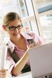 企业成功的妇女 免版税图库摄影