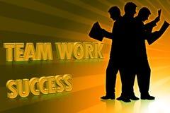 企业成就小组工作 图库摄影