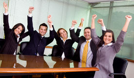 企业成就小组 库存图片