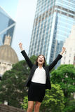 企业成就成功女实业家 免版税库存照片