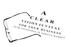 企业成就的眼睛玻璃 免版税库存图片