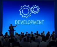 企业成就进展发展钝齿轮概念 免版税库存照片