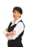 企业成熟微笑的妇女 免版税图库摄影