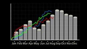 企业成长和成功两箭头infographics 向量例证