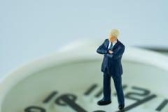 企业或时间与微型商人fi的读秒概念 库存图片