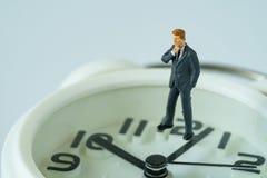 企业或时间与微型商人Th的读秒概念 图库摄影