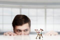企业战斗当竞争概念 库存照片