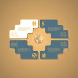 企业抽象标志 免版税图库摄影