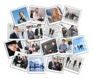 企业拼贴画许多照片 免版税图库摄影