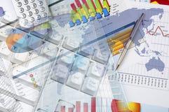 企业拼贴画 免版税图库摄影