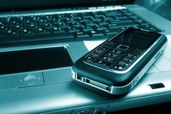 企业按钮关键字膝上型计算机技术 免版税图库摄影