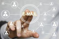 企业按钮网上传讯邮件标志送 免版税库存照片