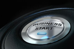 企业按钮起始时间 图库摄影