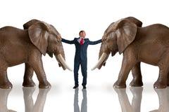 企业挑战斡旋概念 库存图片