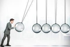 企业挑战概念 免版税库存照片