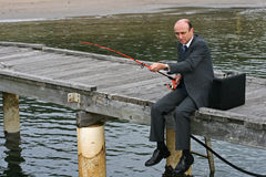 企业捕鱼 库存照片
