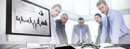 企业接口的综合图象与图表和数据的 免版税库存图片