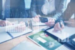 企业接口的综合图象与图表和数据的 库存照片