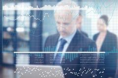 企业接口的综合图象与图表和数据的 免版税图库摄影