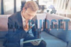 企业接口的综合图象与图表和数据的 库存图片