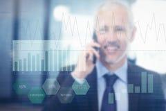 企业接口的综合图象与图表和数据的 图库摄影