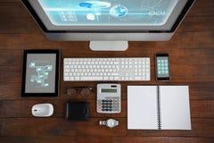 企业接口的综合图象 免版税图库摄影