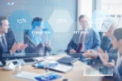企业接口的综合图象 免版税库存图片