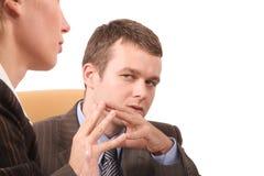 企业接近的交谈人员 免版税库存照片