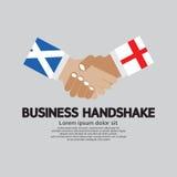 企业握手传染媒介、苏格兰和英国 图库摄影