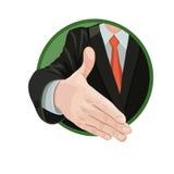 企业握手协议 库存例证