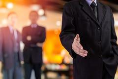 企业握手和商人概念 商人二 库存照片