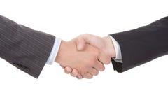 企业握手的特写镜头 免版税库存照片