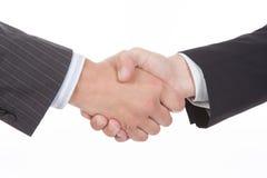 企业握手的特写镜头 图库摄影