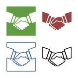 企业握手集合 库存图片