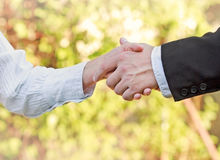 企业握手-成功的事务 免版税库存照片