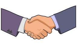 企业握手 免版税库存照片