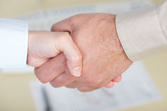 企业握手 免版税图库摄影