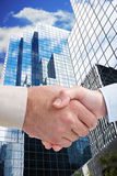 企业握手 库存图片