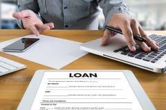 企业支持商务贷款、文件和协议signi 免版税图库摄影