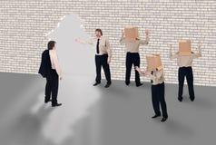 企业教练的概念学校 免版税库存照片
