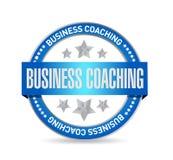 企业教练的封印标志概念 免版税库存图片