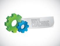 企业教练的齿轮工业标志概念 库存图片