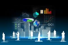 企业数据背景 免版税图库摄影