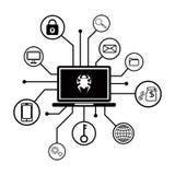 企业数据被加了密 Malware攻击 库存图片
