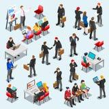 企业数据集合Isometic人民 向量例证