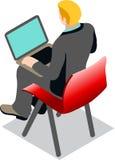 企业数据集合Isometic人民 免版税库存图片