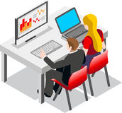 企业数据集合Isometic人民 库存图片