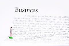 企业文本在白色的焦点词 图库摄影