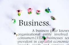 企业文本焦点词背景 免版税库存图片