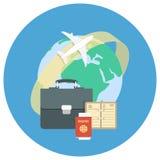 企业旅行的概念 皇族释放例证